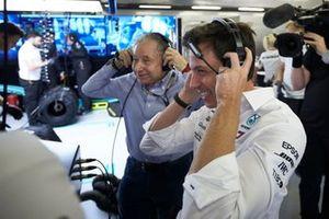 Jean Todt, President FIA, en Toto Wolff Mercedes AMG