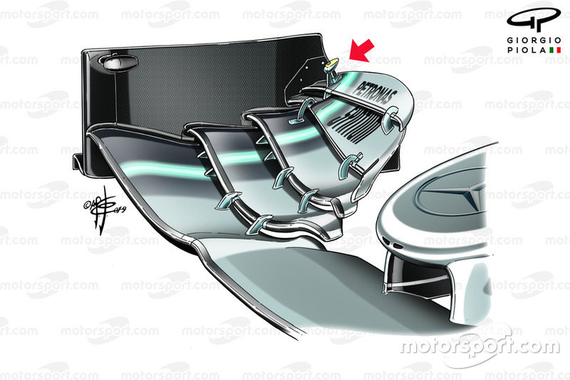 Mercedes AMG F1 W10, front wing