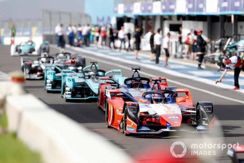 Pascal Wehrlein, Mahindra Racing, M6Electro, Jérôme d'Ambrosio, Mahindra Racing, M6Electro, James Calado, Jaguar Racing, Jaguar I-Type 4, Mitch Evans, Jaguar Racing, Jaguar I-Type 4