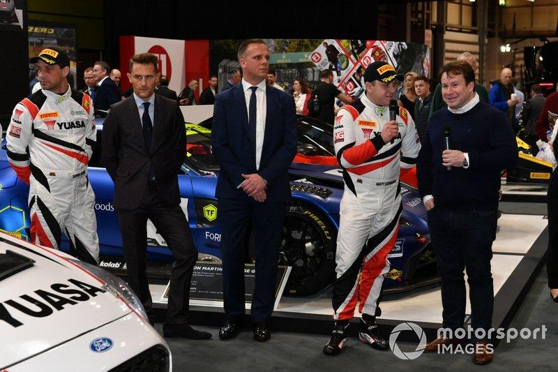 Darren Garrod and Matt Edwards are interviewed on the Pirelli stand