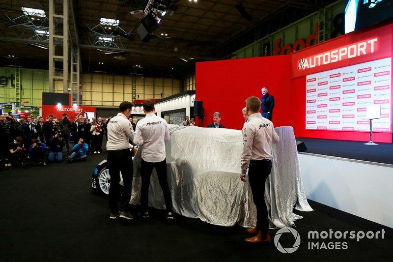 Esapekka Lappi, Teemu Suninen e Gus Greensmith presentano la loro M-Sport Ford Fiesta WRC 2020
