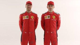 Sebastian Vettel ve Charles Leclerc, Ferrari