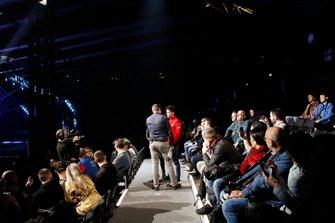David Croft, Sky TV intervista Charles Leclerc, Ferrari al Live Action Arena