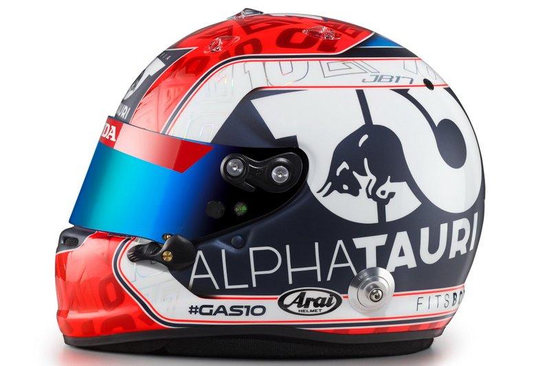 Helm von Pierre Gasly, AlphaTauri, für die Formel-1-Saison 2020