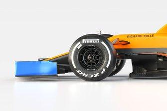 Dettaglio anteriore, McLaren MCL35