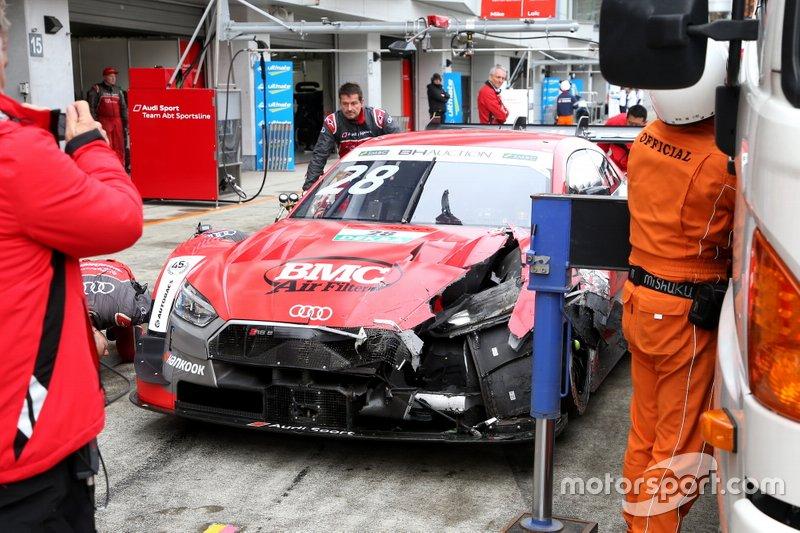Loic Duval, Audi Sport Team Phoenix Audi RS5 DTM después del accidente