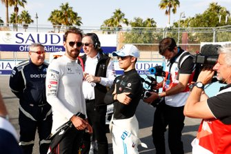 Jean-Eric Vergne, DS Techeetah, Nyck De Vries, Mercedes Benz EQ on the grid