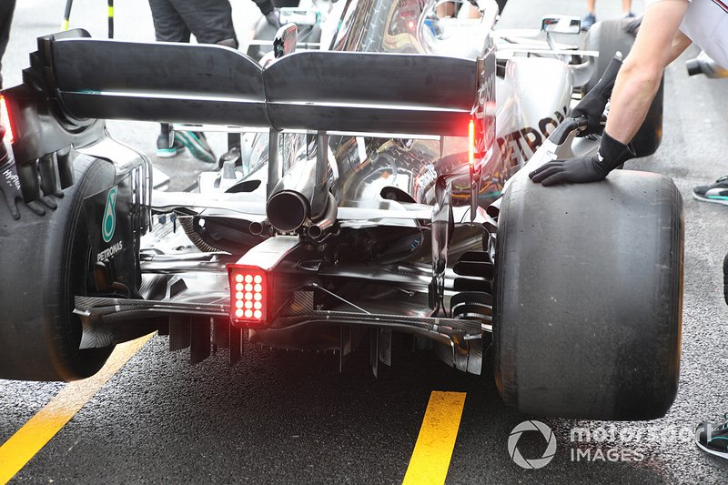 Mercedes F1 AMG W10, rear detail