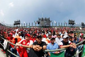 Fans packed in to a grandstand
