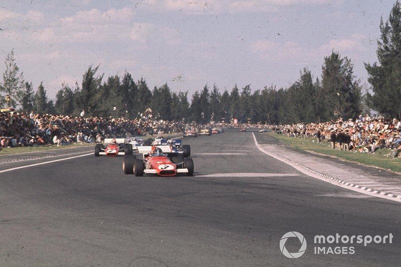 Jacky Ickx, Ferrari, Clay Regazzoni, Ferrari, al GP del Messico del 1970