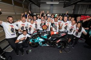 Second place Fabio Quartararo, Petronas Yamaha SRT celebrates with his team