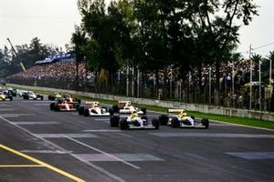 Start zum GP Mexiko 1991 in Mexico City: Nigel Mansell, Williams FW14, Riccardo Patrese, Williams FW14