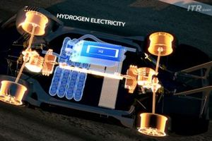 Cars will use fuel cell technology with the tanks fitted safely with the car's carbon-fibre monocoque