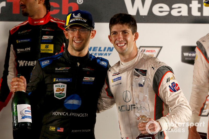 #10 Wayne Taylor Racing Cadillac DPi: Jordan Taylor, #7 Acura Team Penske Acura DPi: Ricky Taylor