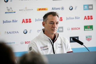 Amiel Lindesay, Head of Operations, TAG Heuer Porsche in the press conference