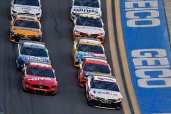 Denny Hamlin, Joe Gibbs Racing, Toyota Camry FedEx Express, Cole Custer, Stewart-Haas Racing, Ford Mustang Haas Automation