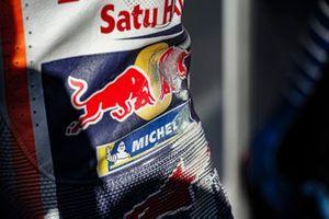 Marc Marquez, Repsol Honda Team, scuffed leathers
