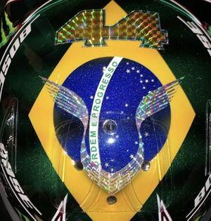 Helmet of Lewis Hamilton for the 2019 Brazilian Grand Prix