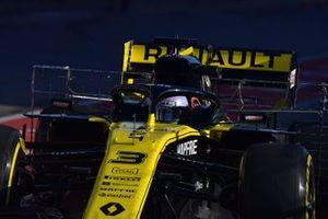 Daniel Ricciardo, Renault F1 Team R.S. 19, avec des capteurs aéro