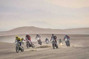 Riders in action during Dakar rally