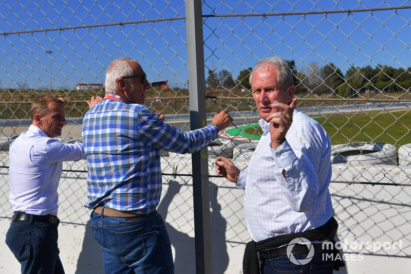 Dietrich Mateschitz, CEO and Founder of Red Bull and Dr Helmut Marko, Red Bull Motorsport Consultant