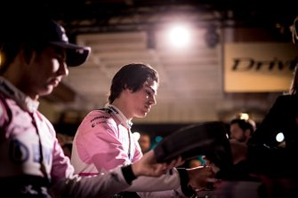 Lance Stroll, Racing Point signs autographs for the fans