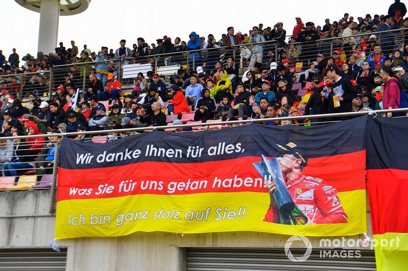 Supporto per Sebastian Vettel, Ferrari