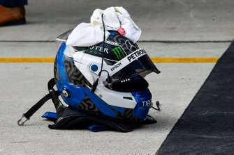 The helmet of Valtteri Bottas, Mercedes AMG F1, 2nd position, in Parc Ferme