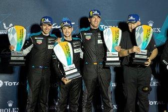 Podium P2: #77 Proton Competition Porsche 911 RSR: Christian Ried, Julien Andlauer, Matt Campbell
