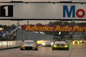 #8 Starworks Motorsport Audi R8 LMS GT3, GTD: Parker Chase, Ryan Dalziel, Ezequiel Perez Companc, #11 GRT Grasser Racing Team Lamborghini Huracan GT3, GTD: Mirko Bortolotti, Rik Breukers, Rolf Ineichen