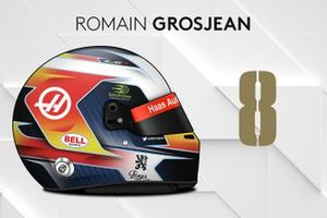 Le casque 2019 de Romain Grosjean
