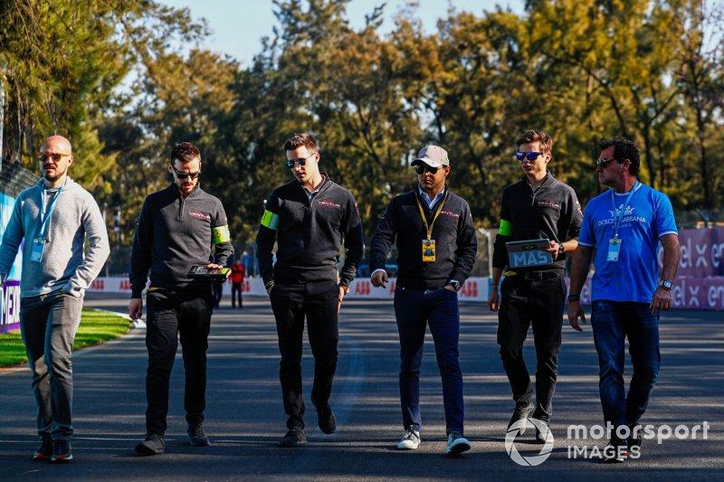 Felipe Massa, Venturi Formula E, camina por el circuito