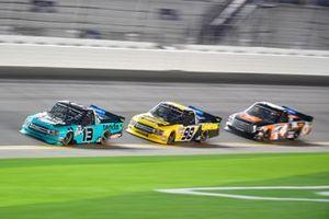 Johnny Sauter, ThorSport Racing, Ford F-150, Grant Enfinger, ThorSport Racing, Ford F-150, Todd Gilliland, Kyle Busch Motorsports, Toyota Tundra JBL
