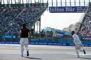 Jose Maria Lopez, GEOX Dragon Racing and Felipe Nasr, GEOX Dragon Racing at the drivers' presentation