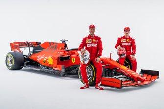 Charles Leclerc, Ferrari, Sebastian Vettel, Ferrari with the Ferrari SF90