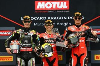 Jonathan Rea, Kawasaki Racing, Alvaro Bautista, Aruba.it Racing-Ducati Team, Chaz Davies, Aruba.it Racing-Ducati Team