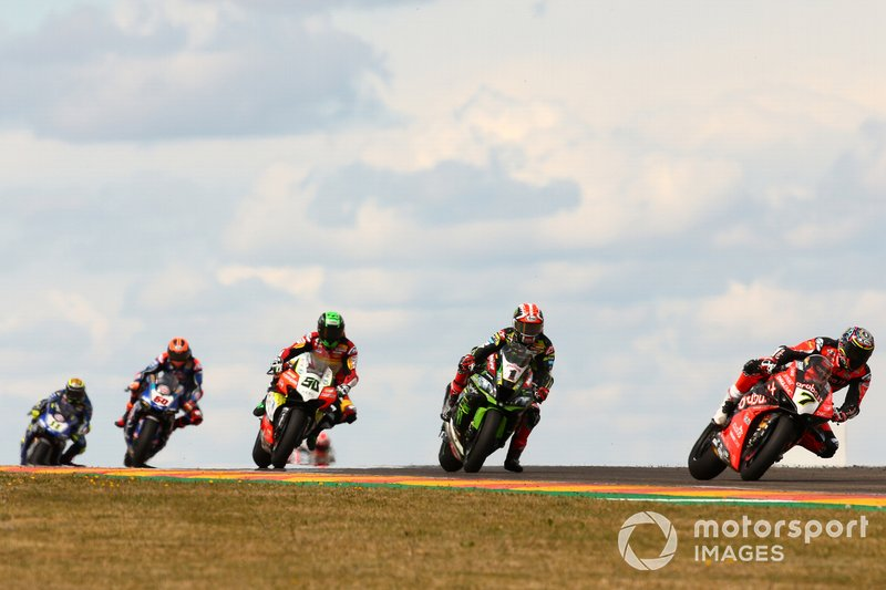 Chaz Davies, Aruba.it Racing-Ducati Team, Jonathan Rea, Kawasaki Racing, Eugene Laverty, Team Go Eleven