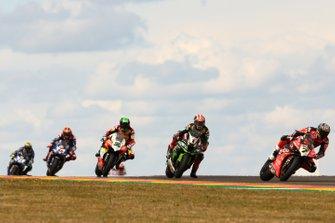 Chaz Davies, Aruba.it Racing-Ducati Team, Jonathan Rea, Kawasaki Racing, Eugene Laverty, Team Go Eleven