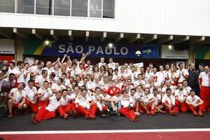 L'écurie Ferrari fête sa victoire