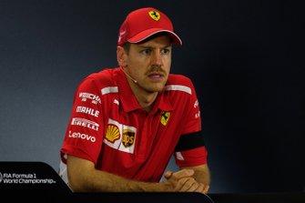 Press conference: third place Sebastian Vettel, Ferrari