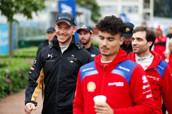 Andre Lotterer, DS TECHEETAH, Jérôme d'Ambrosio, Mahindra Racing walk to the autograph session