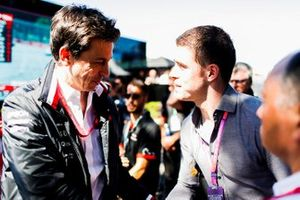 Toto Wolff, Executive Director (Business), Mercedes AMG, talks with Paul di Resta, Sky Sports F1.