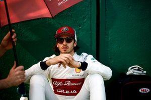 Antonio Giovinazzi, Alfa Romeo Racing, on the grid