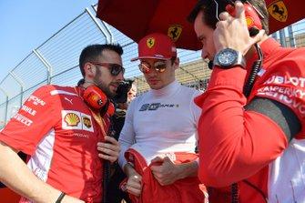 Charles Leclerc, Ferrari, sur la grille