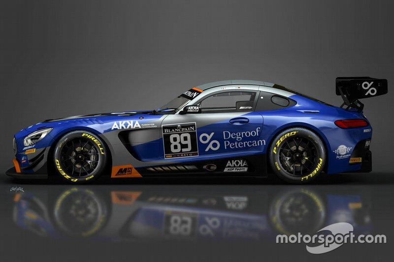 89 AKKA ASP Mercedes AMG GT3: Nico Bastian, Thomas Neubauer
