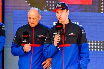 Franz Tost, Team Principal, Toro Rosso and Daniil Kvyat, Toro Rosso at the Federation Square event