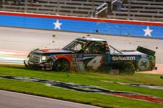Todd Gilliland, Kyle Busch Motorsports, Toyota Tundra JBL/SiriusXM slides through the grass