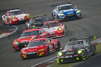 #8 Team IronForce by RING POLICE Porsche 911 GT3 R: Lucas Luhr, Adrien De Leener, Jan-Erik Slooten, #9 Phoenix Racing Audi R8 LMS: Steve Jans, Kim-Luis Schramm