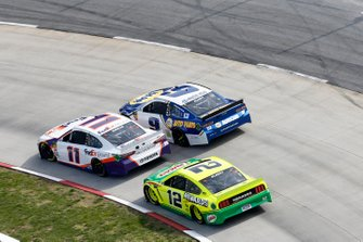 Denny Hamlin, Joe Gibbs Racing, Toyota Camry FedEx Ground, Chase Elliott, Hendrick Motorsports, Chevrolet Camaro NAPA AUTO PARTS, Ryan Blaney, Team Penske, Ford Mustang Menards/Libman