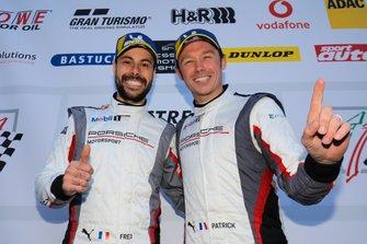 Podium:#912 Manthey-Racing Porsche 911 GT3 R: Fred Makowiecki, Patrick Pilet